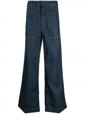 Расклешенные широкие джинсы Lemaire. Цвет: синий