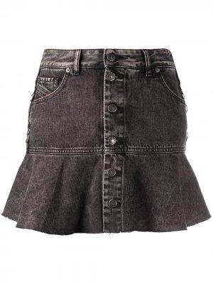 Джинсовая юбка с расклешенным подолом Diesel. Цвет: черный