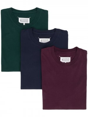 Комплект из трех футболок Stereotype Maison Margiela. Цвет: фиолетовый