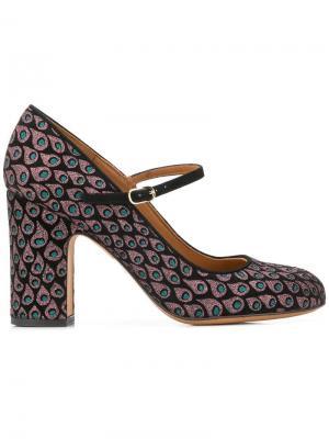 Туфли-лодочки с ремешком Chie Mihara. Цвет: черный