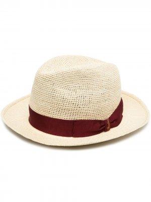 Шляпа с бантом Borsalino. Цвет: нейтральные цвета