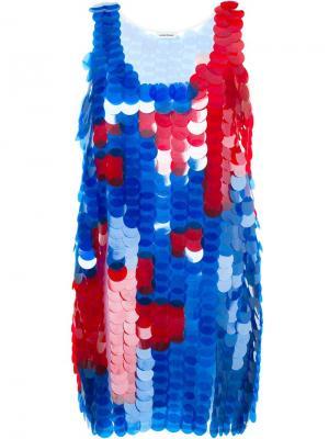Платье с пайетками Au Jour Le. Цвет: синий