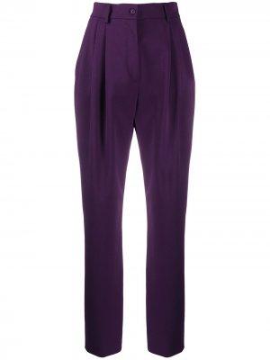 Строгие брюки с завышенной талией Alberta Ferretti. Цвет: фиолетовый