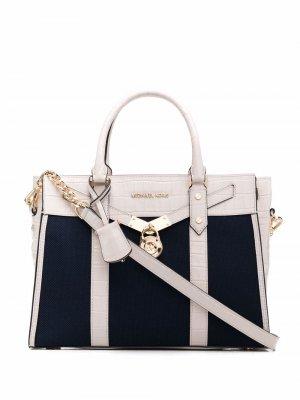 Большая сумка-тоут Nouveau Hamilton Michael Kors. Цвет: синий
