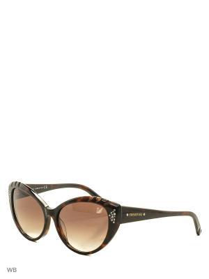 Солнцезащитные очки SK 0055 52F Swarovski. Цвет: коричневый