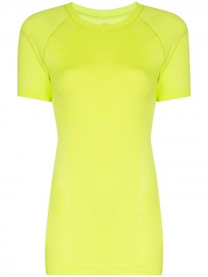 Бесшовная спортивная футболка Athlete Sweaty Betty. Цвет: желтый