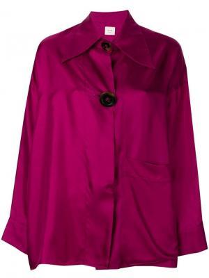 Топ в стиле оверсайз с длинными рукавами Alysi. Цвет: розовый