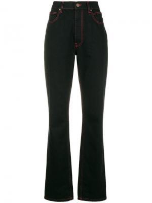 X Andy Warhol слегка расклешенные джинсы Calvin Klein 205W39nyc. Цвет: черный