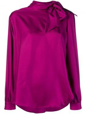 High neck blouse Alysi. Цвет: розовый