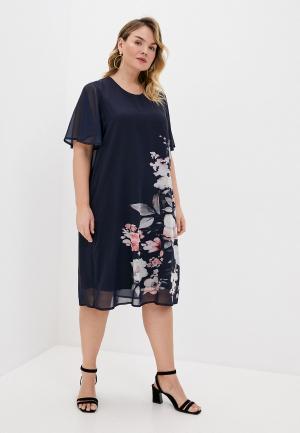 Платье Ulla Popken. Цвет: синий