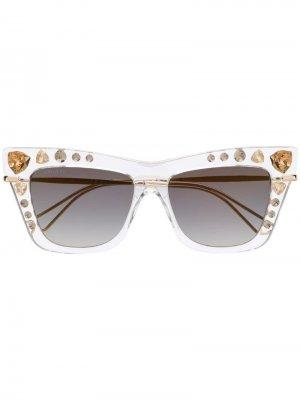 Декорированные солнцезащитные очки Jimmy Choo Eyewear. Цвет: нейтральные цвета