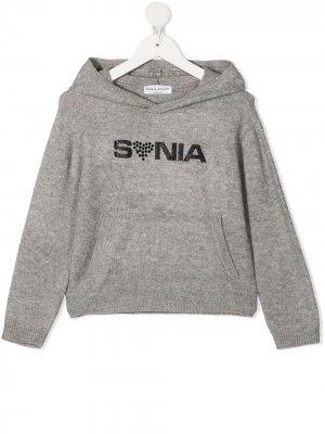 Logo-print hoodie Sonia Rykiel. Цвет: серый