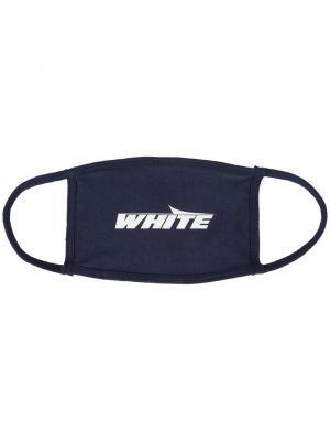 Маска для лица с принтом Off-White. Цвет: синий
