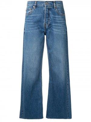 Расклешенные укороченные джинсы IRO. Цвет: синий