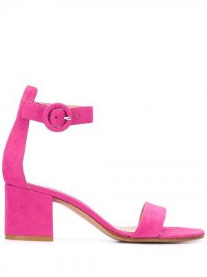 Босоножки на блочном каблуке Gianvito Rossi. Цвет: розовый