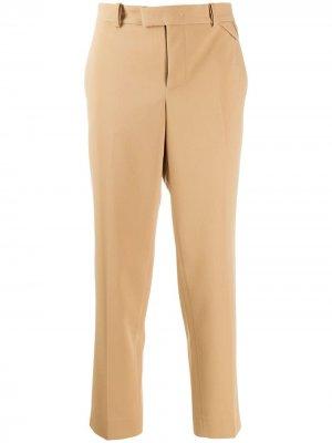 Строгие брюки кроя слим Bottega Veneta. Цвет: нейтральные цвета