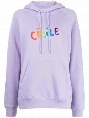 Худи с логотипом Être Cécile. Цвет: фиолетовый