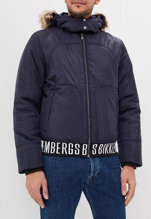 Куртка утепленная Bikkembergs. Цвет: синий