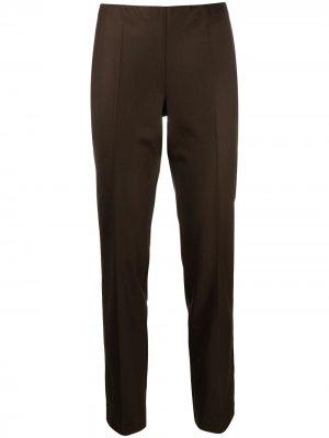 Зауженные брюки средней посадки P.A.R.O.S.H.. Цвет: коричневый