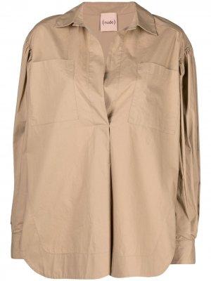 Рубашка на пуговицах Nude. Цвет: нейтральные цвета