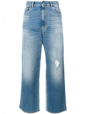 Укороченные расклешенные джинсы Golden Goose Deluxe Brand. Цвет: синий