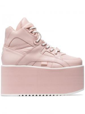 Классические кроссовки на высокой платформе Buffalo. Цвет: розовый