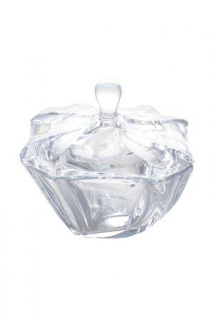 Конфетница с крышкой 13 см Crystalite Bohemia. Цвет: белый