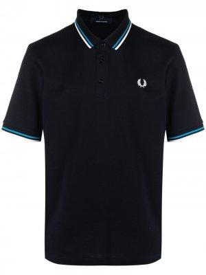 Рубашка поло с вышитым логотипом FRED PERRY. Цвет: синий