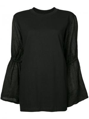 Блузка с расклешенными рукавами Mother Of Pearl. Цвет: черный
