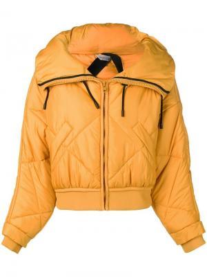 Cropped padded jacket Sportmax. Цвет: желтый