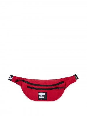 Поясная сумка с нашивкой-логотипом AAPE BY *A BATHING APE®. Цвет: красный