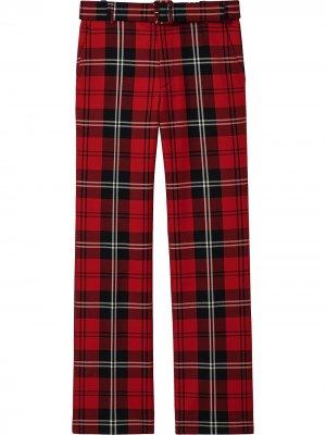Клетчатые брюки прямого кроя Marc Jacobs. Цвет: красный