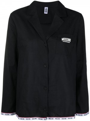 Пижама с логотипом Moschino. Цвет: черный