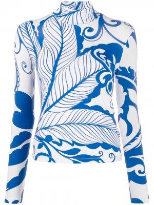 Водолазка Marea Blu с принтом La Doublej. Цвет: синий