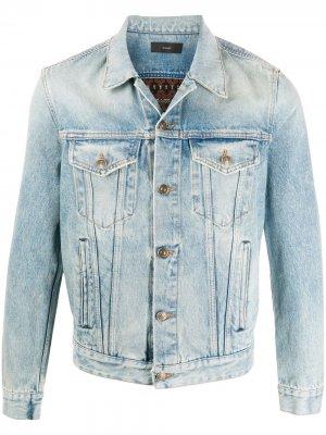 Джинсовая куртка с узором Alanui. Цвет: синий