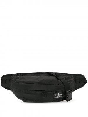 Поясная сумка с нашивкой-логотипом Makavelic. Цвет: черный