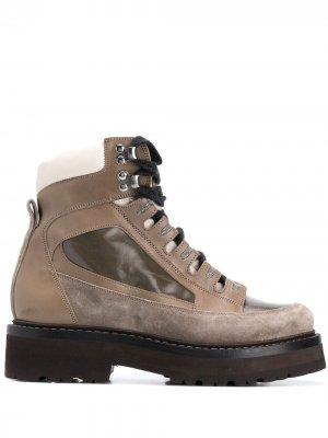 Массивные ботинки хайкеры Brunello Cucinelli. Цвет: коричневый
