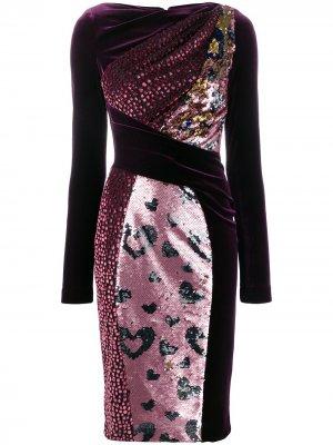Платье Torpedo Talbot Runhof. Цвет: розовый