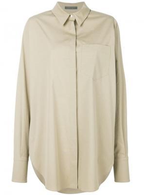 Рубашка кроя оверсайз Alberta Ferretti. Цвет: нейтральные цвета