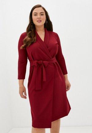 Платье TrendyAngel. Цвет: бордовый