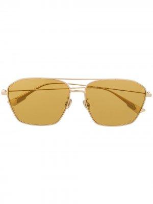 Солнцезащитные очки Stella Aire в квадратной оправе Dior Eyewear. Цвет: золотистый