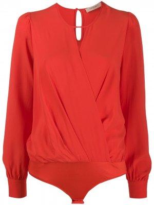 Блузка с вырезом-капелькой Twin-Set. Цвет: красный
