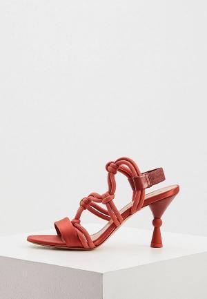 Босоножки Max&Co. Цвет: красный