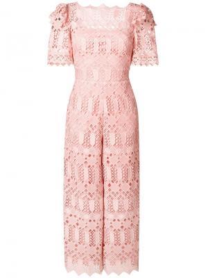 Amelia lace jumpsuit Temperley London. Цвет: розовый