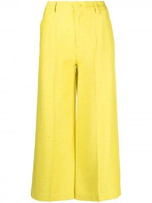 Укороченные брюки широкого кроя Etro. Цвет: желтый