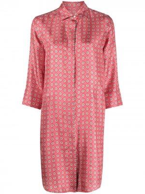 Длинная рубашка с абстрактным принтом Alberto Biani. Цвет: розовый