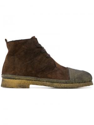 Ботинки с контрастным носком Rocco P.. Цвет: коричневый