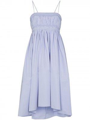 Платье миди со сборками Chloé. Цвет: синий