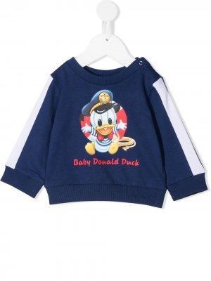 Футболка Donald Duck Monnalisa. Цвет: синий