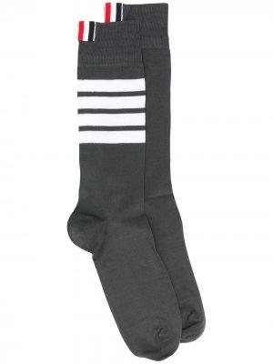 Носки с полосками 4-Bar Thom Browne. Цвет: 025 dark grey